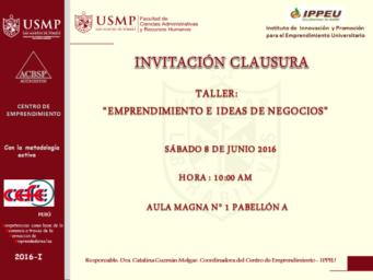 CLAUSURA DE JUNIO 2016-1