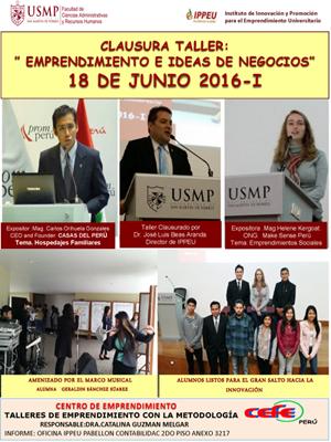 clausura taller emprendimiento 2016-1